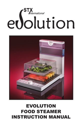STX Evolution Food Steamer Instructions